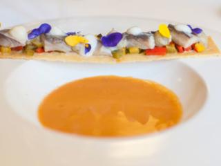 Salmorejo de anchoa, en el Restaurante Nou Manolín de Alicante