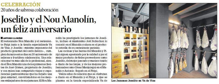 GrupoGastronou-Alicante-Gastronomía-Prensa-Jamones-Joselito