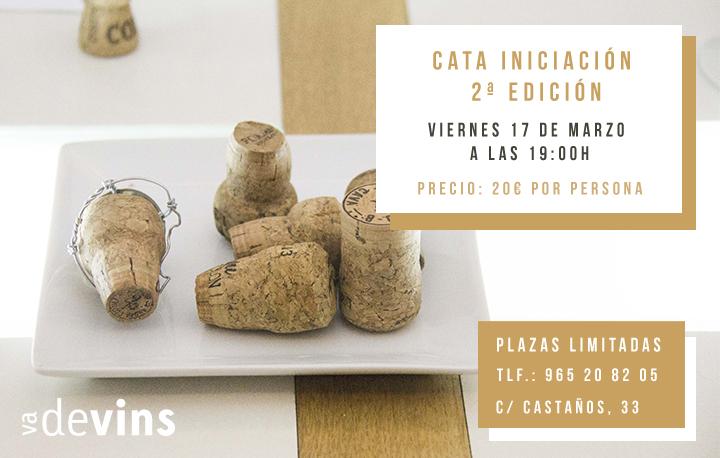 Segunda Cata de Iniciación en Vadevins, enoteca de Alicante