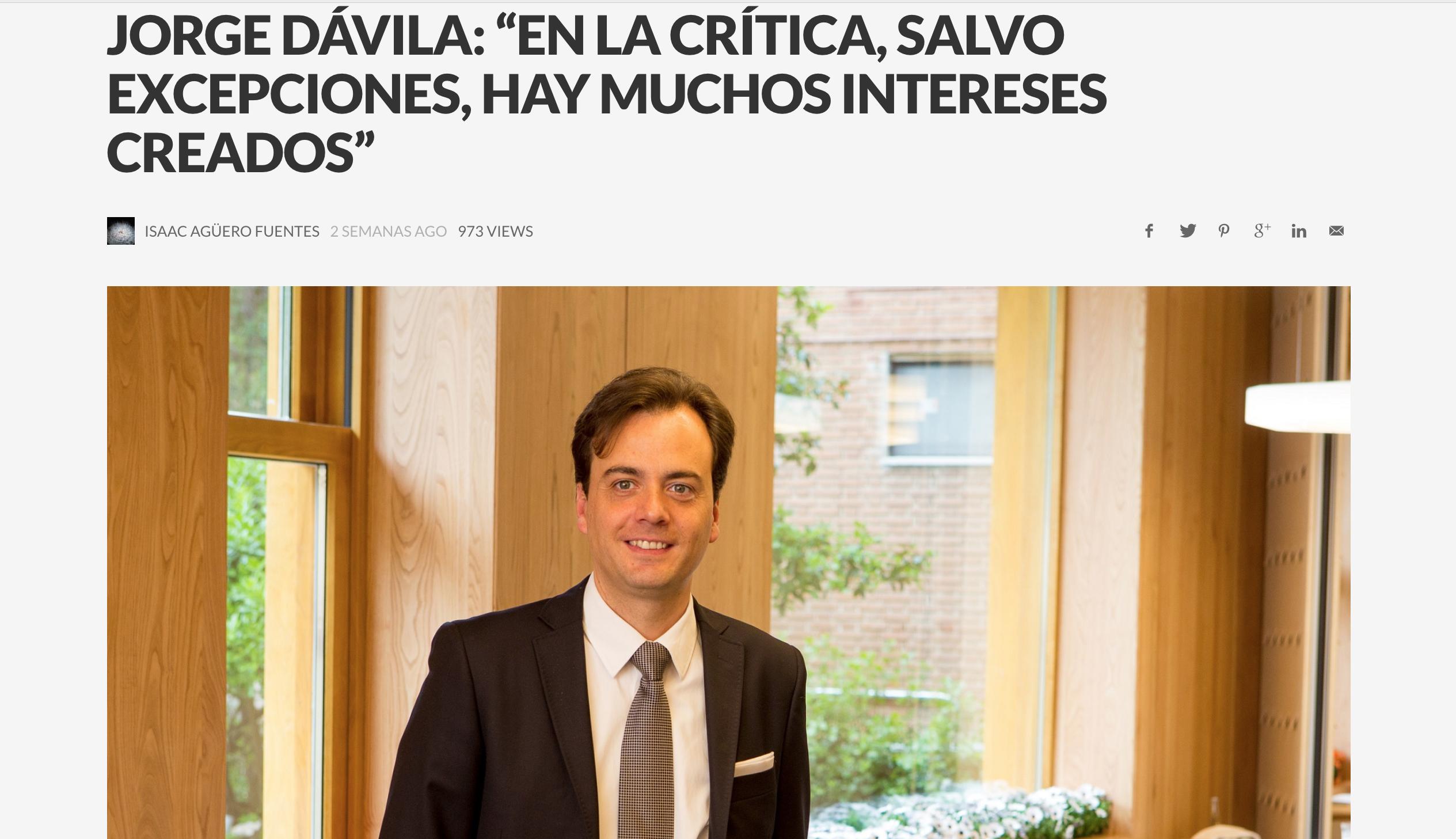 """""""La barra en la que más disfruto es Nou Manolín"""" mención de Jorge Dávila"""