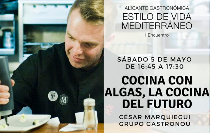 """César Marquiegui charla sobre """"Cocina con algas, la cocina del futuro"""""""