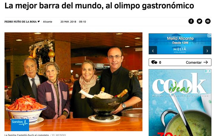 Premio Nacional de Gastronomía concedido a Vicente Castelló